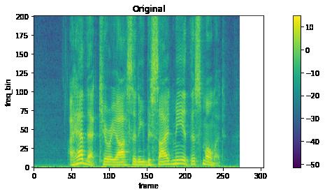 The original spectrogram